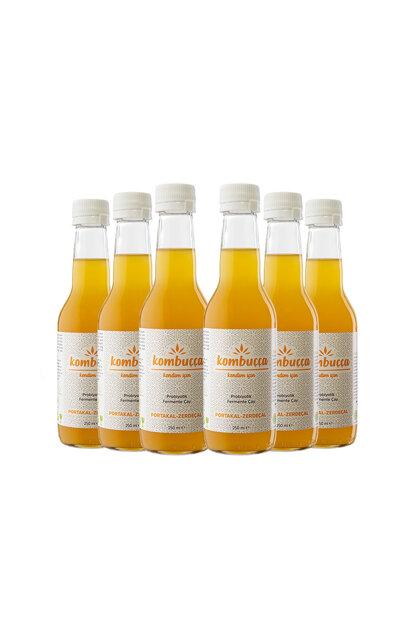 Portakallı Zerdeçallı Probiyotik Fermente Kombucha Çay